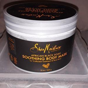 Shea moisture black soap soothing body mask